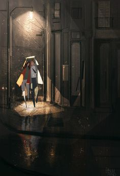 Totally worth it. #pascalcampion #rain #date-night