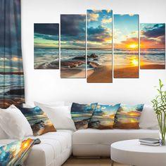 "Modern Beach Canvas Art Print ""Beautiful Cloudscape over the Sea"" Home Decor Art Beach Canvas Art, Canvas Art Prints, Mother's Day Deals, Valentine Day Gifts, Valentines, Holiday Deals, Decor Ideas, Gift Ideas, Wall Sculptures"