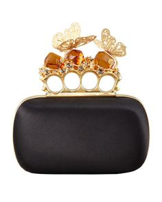 Butterfly Knuckle-Duster Box Clutch Bag by Alexander McQueen at Bergdorf Goodman.