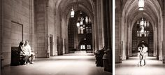 Cathedral of Learning Engagement Session - Pittsburgh, PA couples photography -   Nicole Hanson Photography
