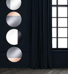 homka cord wall mirror - Miroir Mural Blanc Simili Cuir Strass