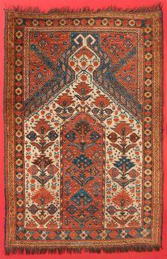 nomads turkman Beshir Prayer rug, Middle Amu Darya region, mid-19th century, Central Asia. Christopher Emmet collection