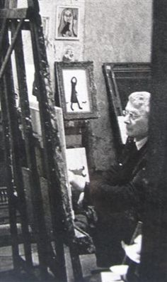 Isherwood's greatest hero was his fellow painter L S Lowry. He made it his business to find out where Lowry was appearing and then appeared in the Salford, Manchester, Photo Wall, Industrial, Artists, Studio, Painting, Fictional Characters, Photograph