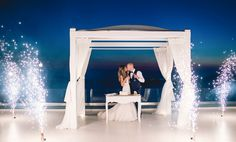 Diane and Gary's breathtaking Sunset View Terrace wedding in Santorini by The Bridal Consultant