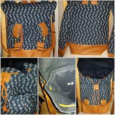"Maritimer Rucksack ""Pakke"" von Ich sein: http://www.kreativlaborberlin.de/schnittmuster/rucksack-pakke/"
