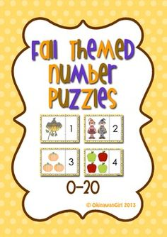 Fun puzzle set focusing on developing students ability to count accurately and work cooperatively.