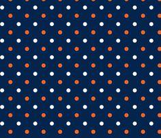 Auburn_Navy_Dot custom fabric by rick_rack_scissors_studio for sale on Spoonflower