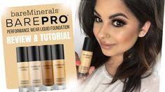 BareMinerals BARE PRO Performance Wear Liquid Foundation   Review & Tutorial - YouTube