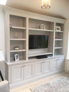 Living Room Built In Wall Units, Living Room Bookcase, Living Room Entertainment Center, Living Room Tv, Family Room Walls, Living Room Decor Inspiration, Living Room Designs, Interior Design, Cupboards