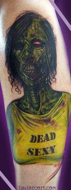 Dead sexy marilyn manson zombie tattoo ***** Zombie Tattoos, Under My Skin, Boris Vallejo, Mish Mash, Great Tattoos, Ink Art, Tattoo Artists, Tatting, Creepy
