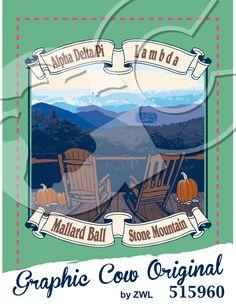 Mallard Ball rocking chair pumpkin mountains #outdoors #grafcow