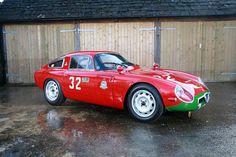 Alfa Romeo TZ 1. Este coche es muy, pero que muy raro...