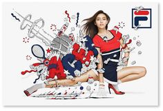 Fila Japan - Japan Print Campaign:この写真との混ざり具合。 こっちのバランスのほうがすきだな。