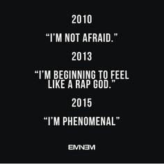 evolution of eminem's confidence