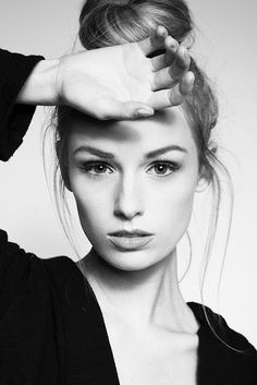 black and white beauty face