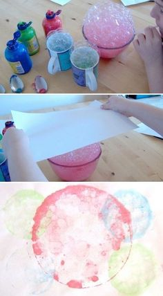 bubble crafts for kids/ Bubble Print Toddler Crafts, Diy And Crafts, Crafts For Kids, Arts And Crafts, Bubble Painting, Bubble Art, Bubble Crafts, Diy Painting, Projects For Kids