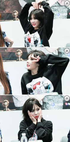 Hyuna goofing aroung at '4Minute World' Ilsan Fansign 2014