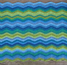 Ravelry: Project Gallery for Easy Ripple Afghan pattern by SusanB