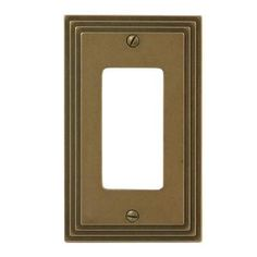 Amerelle Steps 1 Gang Decora Wall Plate - Rustic - The Home Depot Rustic Plates, Decorative Borders, Rocker Style, Plate Design, Switch Plates, Brass Color, Simple Elegance, Plates On Wall