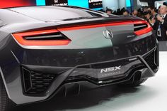 Acura NSX Concept at the Detroit Auto Show via . Small Luxury Cars, Detroit Auto Show, Japanese Imports, Acura Nsx, Cars Motorcycles, Nissan, Automobile, Two By Two, Concept