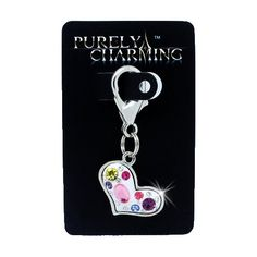 PURELY CHARMING Pet Charm/Pendant with Handset Swarovski Crystals - Multistone Puffed Heart -- New and awesome cat product awaits you, Read it now  : Cat accessories