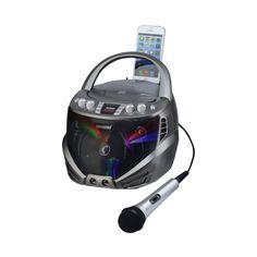 Karaoke USA - Cd+g Portable Karaoke System - Gray