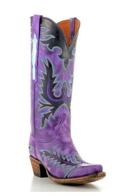 Women's Luchese Wild Ride Cowboy Boot, in Purple.....I would LOVE  to have these to go with my collection! Maybe one day.