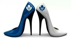 Oh mylanta these babies will be mine! High Heels, Shoes Heels, Pumps, Maple Leafs Hockey, Hockey Room, Toronto Blue Jays, Toronto Maple Leafs, Montreal Canadiens, Designer Shoes