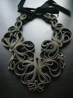 "Necklace | Flora Quereshi (Reborne Jewelry) ""Zipper ~ Madame Butterfly"""