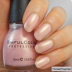 Painted Fingertips | Swatch: Sinful Colors Glass Pink