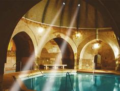 Not the one in Budapest necessarily, VA will suffice. - Kirali Baths Spa and Bath House in Budapest, Hungary. Spring Architecture, Architecture Design, Budapest Spa, Visit Budapest, Grand Budapest, Budapest Thermal Baths, Budapest Things To Do In, Buda Castle, Destinations