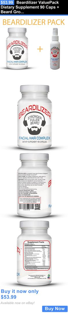 Shaving Creams Foams and Gels: Beardilizer Valuepack Dietary Supplement 90 Caps + Beard Growth Spray 4Oz BUY IT NOW ONLY: $53.99