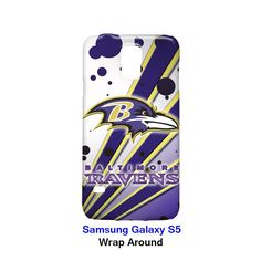 Baltimore Ravens Node and Strip Samsung Galaxy S5 Case Cover Wrap AroundClick picture to enlarge
