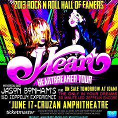 Catch 2013 Rock and Roll Hall of Famers HEART with Jason Bonham's Led Zeppelin Experience at the Cruzan Amphitheatre in West Palm Beach. Upcoming Concerts, West Palm, Led Zeppelin, Special Guest, Palm Beach, Rock N Roll, Dreaming Of You, Musicals, Acting
