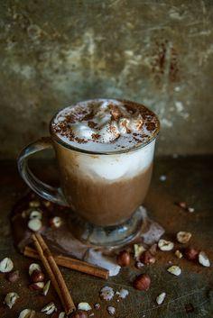 Pumpkin Hazelnut Hot Chocolate from @heatherchristo