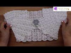 Bolero Crochet para Niña 4 años fácil paso a paso - YouTube