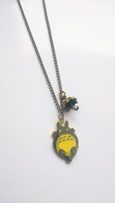 Totoro with his Umbrella Charm Necklace by BunnysBeadsUK on Etsy, £5.00