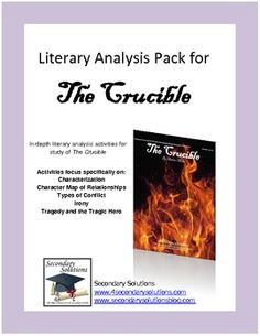 a literary analysis and a summary of the crucible 2014-10-14  the crucible, act ii, by arthur miller literary analysis: allusion an allusion is a reference to some well­known thing or idea.