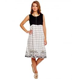 Jalebe trendy Dress with Check print for women INDTJBL011