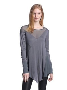 54% OFF Nicholas K Women's Long Sleeve Top with Mesh Inserts (Mercury)