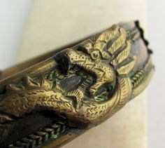 Antique Chinese Dragon Cuff Bracelet by Amity Artifacts