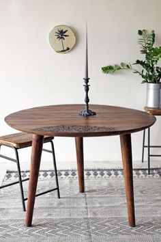 The Eden Table Collection - Beautiful Round Dining Table - available carved or plain WERE 495 NOW 295