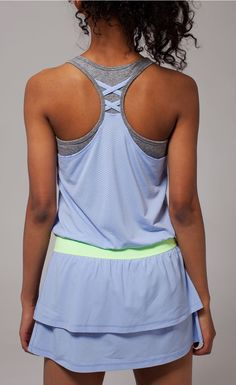 wide straps won't dig in on your backhand. | Cool On The Court Dress