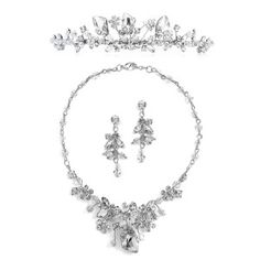 Jewelry set! Tiara, necklace, and earring set! Beautiful set for prom, wedding, or pageant!