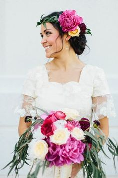 Slideshow: 44 Wedding-Worthy Hairstyles With Flower Crowns—Plus, Pro Tips On How To Pull Off The Look