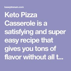 Keto Pizza Casserole is a satisfying and super easy recipe that gives you tons of flavor without all the carbs of your favorite pizza recipe! Pizza Casserole, Casserole Dishes, Casserole Recipes, Pizza Recipes, Gluten Free Recipes, Keto Recipes, Lowcarb Pizza, Sausage Spaghetti, Deli Ham