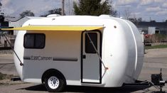 eggcamper molded fiberglass inside and out