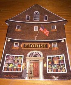 Charles Wysocki Bradford Exchange The Town Florist House Plate 1996