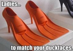 Lol, duck shoes to go with your duck face. Duck face is so unattractive. Mode Shoes, Duck Face, Der Arm, Crazy Shoes, Weird Shoes, Ugly Shoes, Just For Laughs, Funny Photos, Funny Images