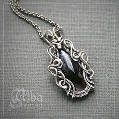 Alba серебрянный кулон с моховым агатом